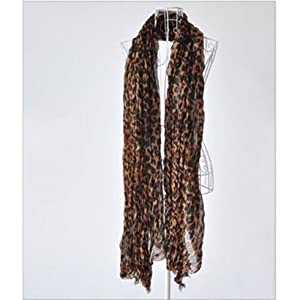DGI MART Girl Lady Decorative Scarf Brown Leopard Pattern Scarf Creative Trendy Style Shawl Causal Wrap Fit Autumn by DGI MART
