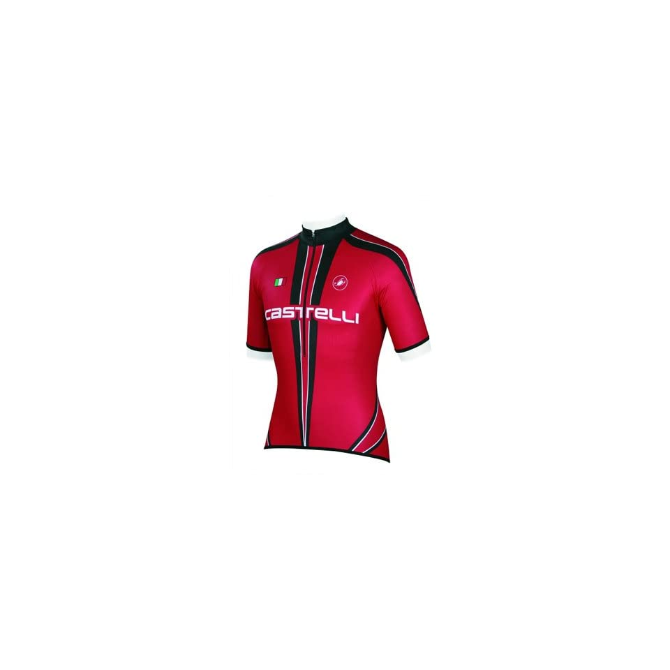 9bd37b7aa Castelli Freccia Cycling Jersey Red White Black A7010 023 on PopScreen