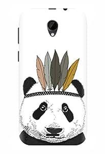 Noise Designer Printed Case / Cover for Intex Aqua Q7 / Patterns & Ethnic / Panda Design