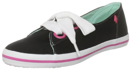 Kangaroos Women's Maryport Laced Leather Black Ballet C-10134 4 UK