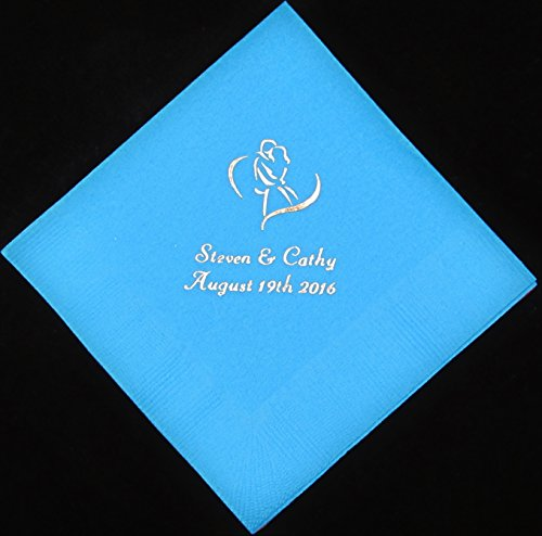 75 personalized luncheon napkins wedding favors custom printed napkins baby shower