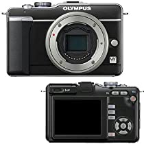 OLYMPUS 262855 12.3 Megapixel E-PL1 Pen Camera (Black camera body)