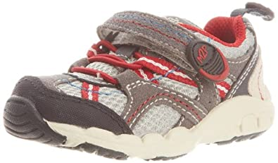Stride Rite Made 2 Play  Baby Griffin Shoe (Toddler),Grey/Red,4 M US Toddler