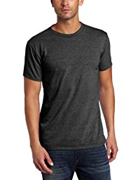 Threads 4 Thought Men\'s Triblend Crew Neck Tee, Heather Black, Large