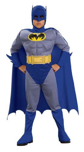 Deluxe Muscle Chest Batman Costume - Child Large at Gotham City Store