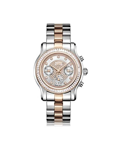 JBW Women's J6330D Laurel Diamond Silver & Rose/Two-Tone Stainless Steel Watch