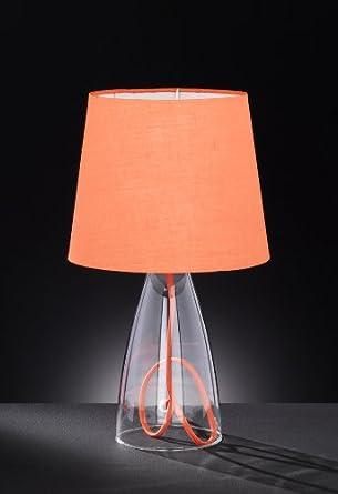 Funky Orange Shade Glass Base Table Lamp: Amazon.co.uk: Lighting