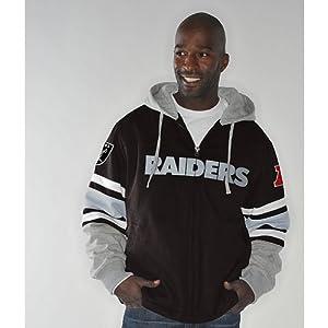 NFL Oakland RAIDERS 1-on-1 Transition Fleece Jacket~ LARGE by G-III