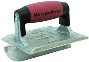 MARSHALLTOWN The Premier Line 833D 6-Inch by 4-3/8-Inch Heavy Duty Zinc Hand Groover with DuraSoft Handle
