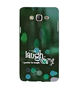 EPICCASE Laugh or cry Mobile Back Case Cover For Samsung Galaxy E5 (Designer Case)