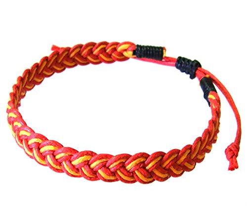 artisan-handgefertigt-armband-unisex-freundschaftsarmbander-rot-gelb-baumwolle-schnur
