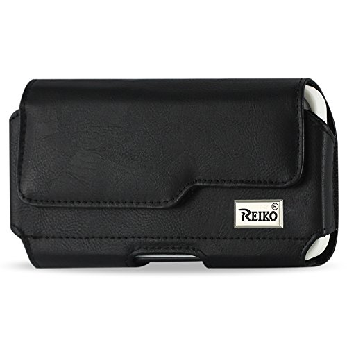 Reiko Horizontal Z lid leather Pouch SAMSUNG GALAXY S4 PLUS BLACK - Carrying Case - Retail Packaging - Black (Samsung Galaxy S4 Case With Lid compare prices)