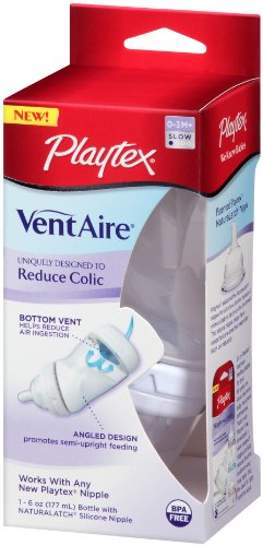 Playtex VentAire Advanced Wide Bottle, 6 Ounce,Colors May Vary (Discontinued by Manufacturer) - 1