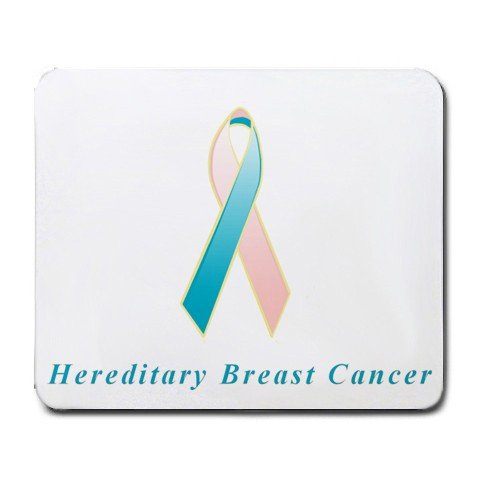 Hereditary Breast Cancer Awareness Ribbon Mouse Pad