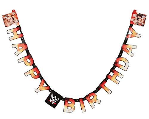 American Greetings WWE Birthday Party Banner, Party Supplies Novelty