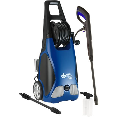 AR North America AR383 1,900 PSI 1.5 GPM 11 Amp Electric Pressure Washer With Hose Reel