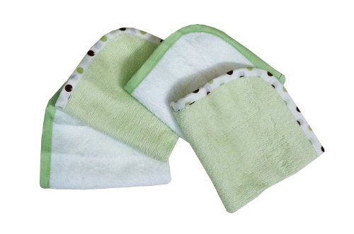 Imagen de Compañía American Baby 4-Pack 100% de algodón orgánico Estropajos Terry, Apio