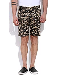 Mr Button The Mischievous Charlie Cotton Shorts For Men, Structured Fit, 100% Premium Mercerised Cotton Fabric...