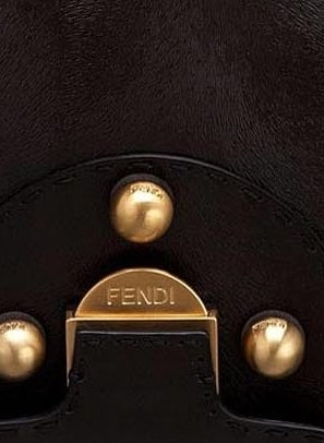 FENDI -Secret Code Dark Brown Handbag shoulderbag satchel – - 8BN199