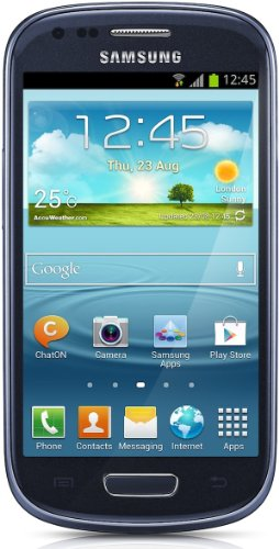 Samsung Galaxy S3 mini I8190 Smartphone (10,2 cm (4 Zoll) AMOLED Display, Dual-Core, 1GHz, 1GB RAM, 5 Megapixel Kamera, Android 4.1) pebble-blau ohne Sim-lock, ohne Vertrag