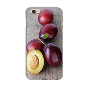 ArtzFolio Ripe Plums With Leaves : Apple iPhone 6 Plus Matte Polycarbonate Original Branded Mobile Cell Phone Designer Hard Shockproof Protective Back Case Cover Protector