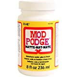 Mod Podge 236 ml Matte Waterbase Sealer/ Glue and Finish, Clear