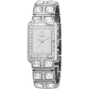 Fossil Glitz Silver Dial Ladies Watch ES1512