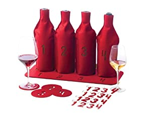 True Fabrications 25-Piece Blind Wine Tasting Kit for 4