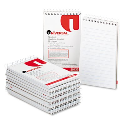 Universal UNV20435 3x5-Inch Narrow Ruled Wirebound Memo Book (12 per Box)