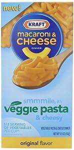 Kraft Macaroni & Cheese Dinner, Vegi Original, 5.5 Ounce (Pack of12)