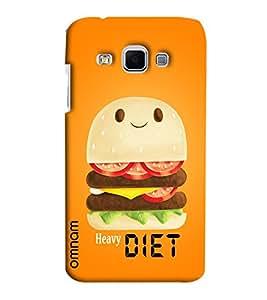 Omnam heavy diet burger printed with orange background For Samsung Galaxy J3