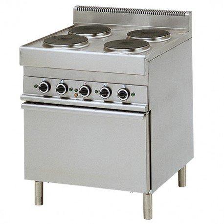 cuisinière électrique, 4 plaques, 1 four électrique à convection