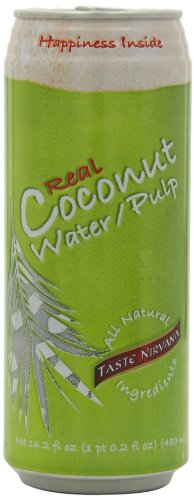 Taste Nirvana Real Coconut Water, with Pulp, 16.2 Ounce (Pack of 12)