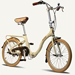 "BARCELONA Citizen Bike 20"" 3-speed Folding Cruiser with Alloy Frame (Ivory) from Citizen Bike"