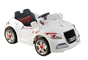 Audi Style Kids Ride On with Rechargeable Battery (White)