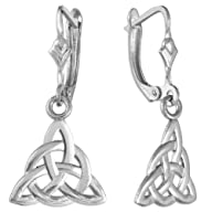 14k White Gold Celtic Trinity Dangle…