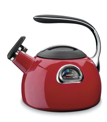 Cuisinart Ptk-330R Perfectemp Porcelain Enameled Teakettle, Red