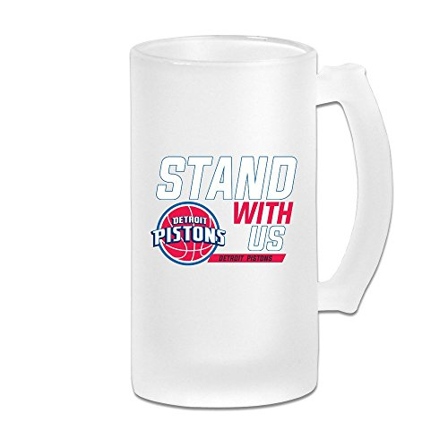 Markwoo Stand With Us Pistons Frosted Beer Mug