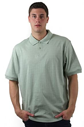 Haggar Men's Big Box Short Sleeve Polo Shirt, Soft Jade, Small