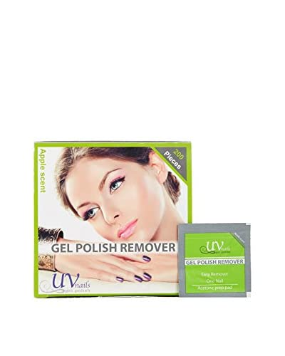 UV-Nails UV Gel Polish Remover Pads with Acetone, Apple Scent, 600 Pads