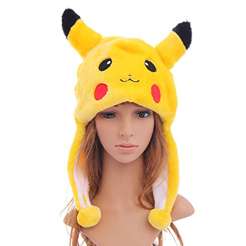 USA Seller - Pokemon Pikachu Cosplay Aviator Hat - 1