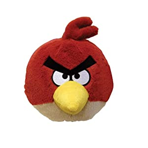 Angry Birds Plush 5-Inch Red Bird with Sound from Commonwealth Toy