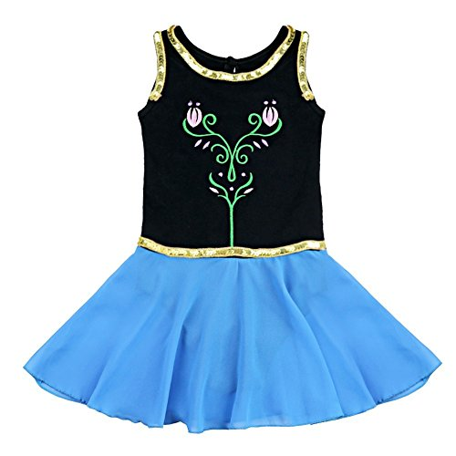FEESHOW Girls Kids Toddler Sequins Ballet Leotard Dress Gymnastic Dance Costumes (Ice Skating Trainer compare prices)