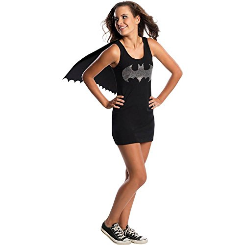Batgirl Rhinestone Logo Tank Dress Teen Costume