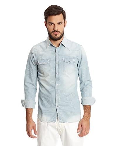 New Caro Camicia Uomo [Blu Chiaro]