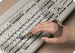 Slip-On Typing/Keyboard Aid - Large, Left from HealthMegaMall