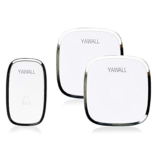 yawall wireless doorbell kit  1 remote push button and 2