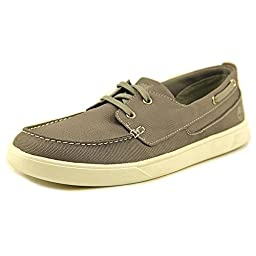 Timberland Men\'s Groveton Canvas Boat Oxford,Grey Canvas,US 10 M