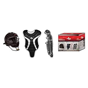 Ages 7-9 Little League Minors Pony League Mustangs Kid Pitch Catching Starter Kit by Authentic All-Star Sports Shop