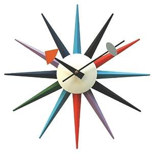 Multicolor Sunburst Wall Clock